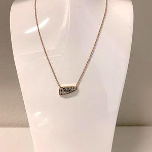 Kendra Scott Etta Necklace Rose Gold and Granite